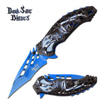 Skull Spider Fanntasy Spring Assisted Folding Pocket Knife Blue