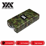 DZS 10 Million Volt Self Defense Camo Stun Gun Rechargeable LED FlashLight