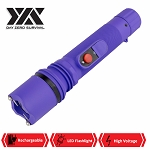 DZS Powerful 10 Million Volt LED Flashlight Stun Gun Rechargeable Purple