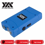 DZS 10 Million Volt Self Defense Blue Stun Gun Rechargeable LED FlashLight