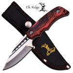 Pink Camo Straight Full Tang Fixed Blade Hunting Skinning Knife