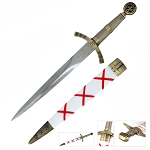 Antique Brass Finish Templar Dagger