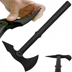 15.5 Inches Black Rubber Training Tomahawk Axe Hatchet