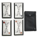 Joker Throwing Cards 4 Pc Set