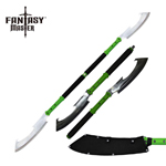 Combat Naginata Double Bladed Zombie Slicer Stick Sword