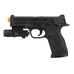 G53 Metal Slide Full Size Airsoft Spring Pistol Black With Laser
