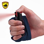 InstaFire Blue Personal Defense Pepper Spray 1/2 oz With Activewear Hand Sleeve