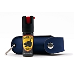 Blue Personal Defense Pepper Spray OC-18 1/2 oz - Leather Case