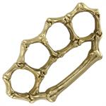 Real Brass Bone Breaker Belt Buckle Paperweight