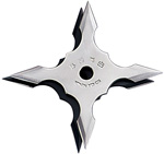 Silver Stainless Steel Ninja Throwing Star