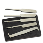 5 Piece Lockpick Tool Set with Case Lock Picking Kit