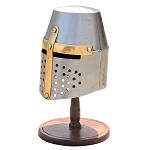 Mini Medieval Knight Helmet With Display Stand