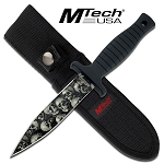 MTech Boot Knife with Skull Camo Finish Blade