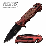 M-Tech Ballistic Escape Pink Pakkawood Spring Assisted Knife