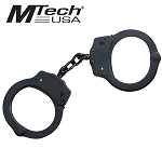 MTech Tactical Black Carbon Steel Handcuff Double Locking + 2 Keys
