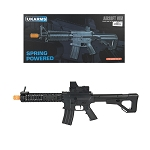 P2214 Quad RIS M4 Spring Airsoft Rifle with Adjustable Stock FPS 200 W/ .20G BBs