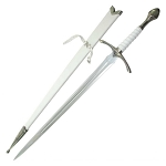 Fantasy Glamdring Replica Sword With White Leather Wood Scabbard