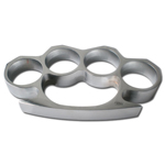 Silver Four Finger Hole Knuckle Paper Weights Palm Grip