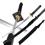 Japanese Black Knight Dragon Warrior Carbon Steel Katana