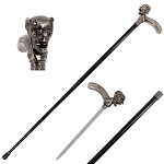 36 Inch Demon Skull Head Cane Sword
