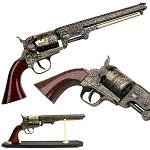 Decorative Western Revolver Comes With The Display Stand
