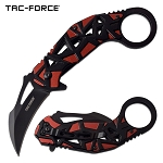 Tac Force Karambit Spring Assisted Folding Pocket Knife Red