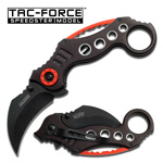 Black 440 Stainless Karambit Tactical Combat Spring Assist Knife