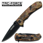 Hunter Camo Spring Assisted Folding Pocket Knife