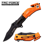 EMT Tactical Rescue Spring Assist Pocket Knife With LED Light