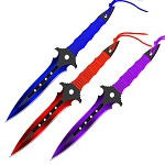 Practice Beautiful Chaos Target Throwing Knife Outdoor Training Ninja 3 PC Set