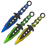 Training Supernova Triad Precision Outdoor Target Practice Throwing Knives Set