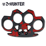 Z-Hunter Skull Metal Knuckle Duster Belt Buckle Paper Weight