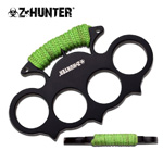 Zombie Hunter Spiked Green Cord Wrapped Padded Knuckles