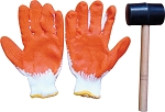 Rubber Mallet and Gloves Set