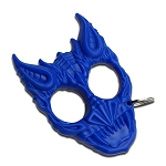 Blue Hard Plastic Demonic Knuckle Defense Keyring
