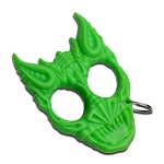 Green Hard Plastic Demonic Knuckle Defense Keyring