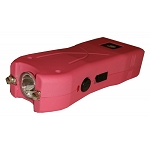 Pink Max Power Rechargeable Stun Gun Built in LED Light With Safety Pin