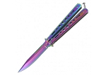 Moonlight Masquerade Rainbow Finish Butterfly Knife