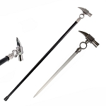 Aluminum Hammer Handle Style Sword Cane