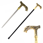 Roaring Dragon Head Walking Sword Cane