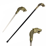 Queen of the Jungle Lioness Walking Cane Sword