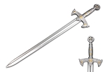 Foam Padded Knights Templar Crusader Sword Costume Prop Cosplay LARP