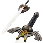 Zelda Twilight Princess Video Game Fantasy Sword With Wall Plaque