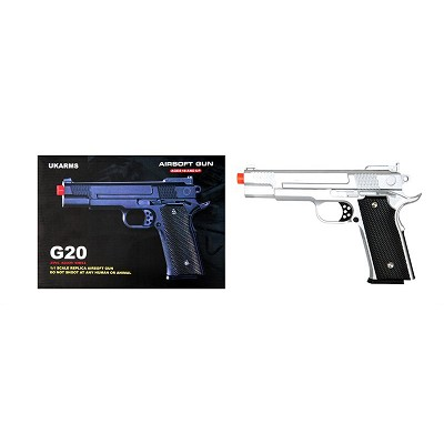 G20 Silver Full Metal M945 Replica Spring Airsoft Handgun Pistol