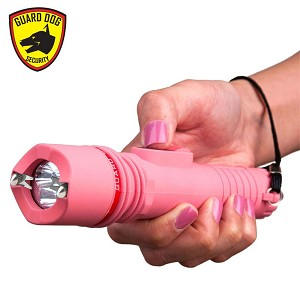 Pink Security 6,000,000 Volt Flashlight Stun Gun with 4 Prongs