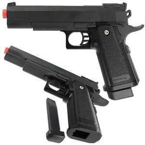 G6 Heavy Metal Airsoft Gun Pistol Black with BB's