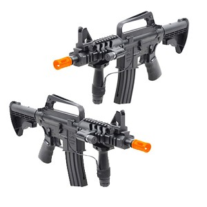 Spring M16A5 Assault Rifle Grip & Collapsible Stock Airsoft Gun