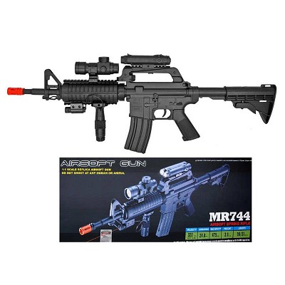 MR-744 Airsoft Rifle with Crosshair Scope & Flashlight Full Scale