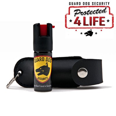 Black Personal Defense Pepper Spray OC-18 1/2 oz With Leather Case