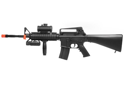 Double Eagle M16 M83B2 FPS-200 Electric Airsoft Assault RIS AEG Rifle